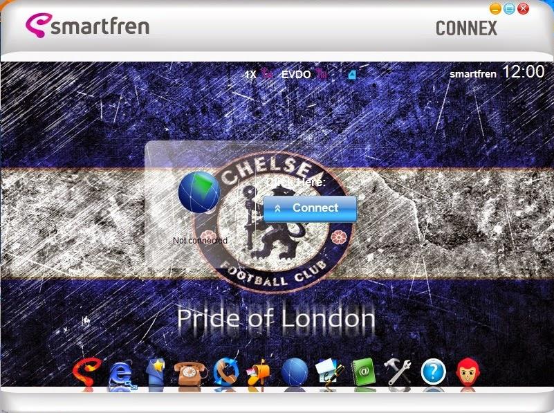 Download Skin Modem Smartfren Connex AC782 UI Edisi Chelsea F.C