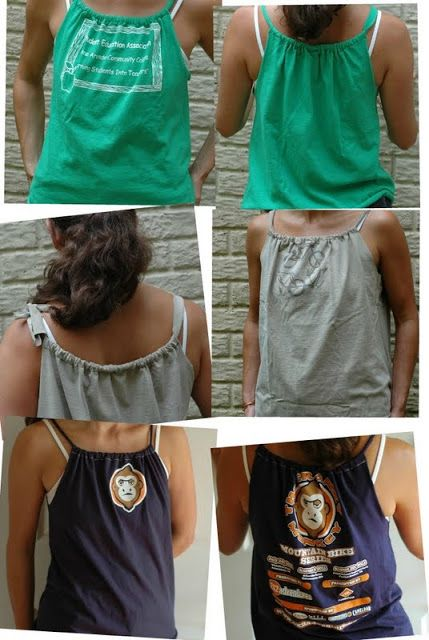 T -Shirt to Tank  A Tutorial by Jen from Upcycled Education