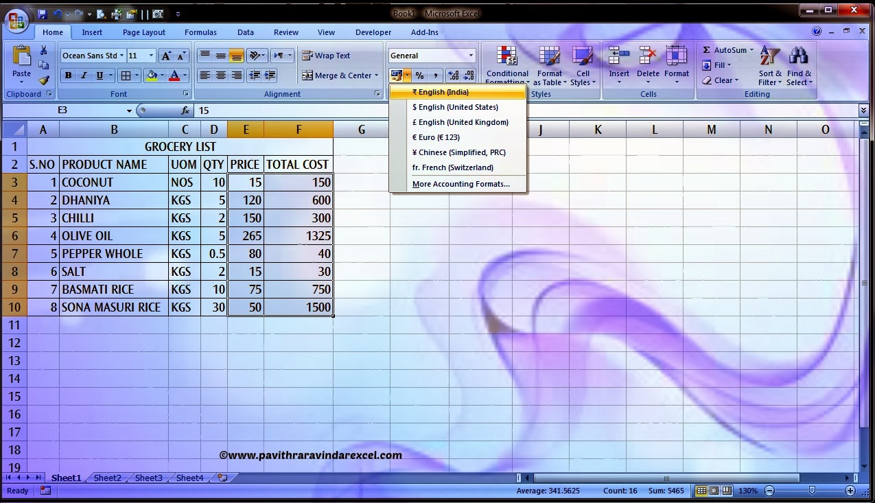 How To Use Change Currency Format In Excel 2007 Howto Excel