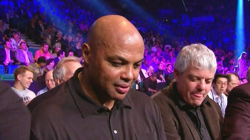 Charles Barkley at Mayweather-Pacquiao fight