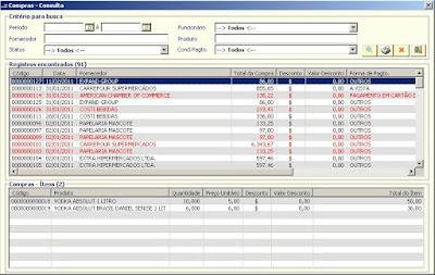 NeXT ERP 1414 Filtro Compras