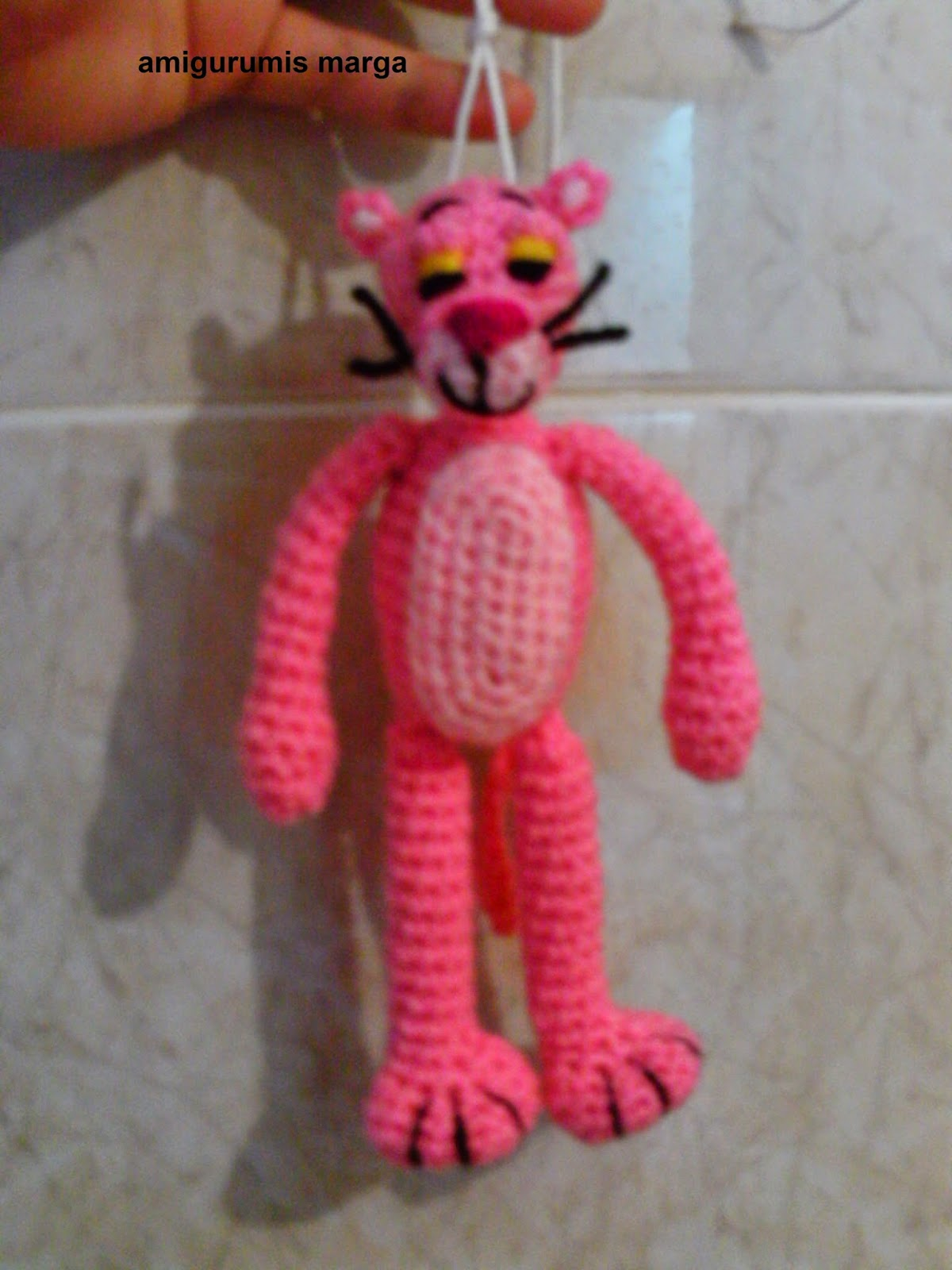 amigurumis marga: amigurumi pantera rosa mini