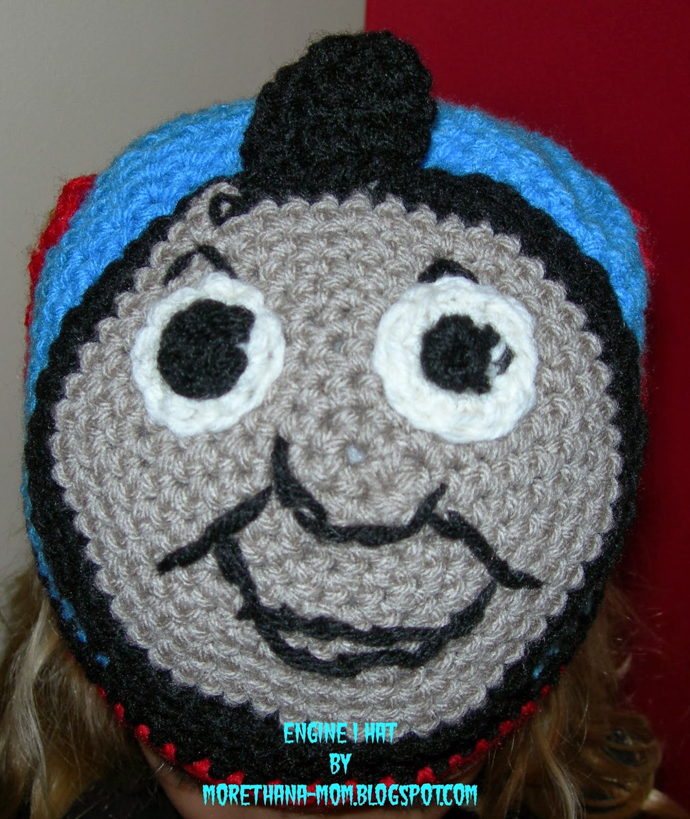 Free Crochet Hat Pattern For Thomas The Train : More Than A Mom: Engine 1 Train Hat + FREE Crochet Pattern