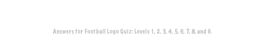 Football Logo Quiz Answers