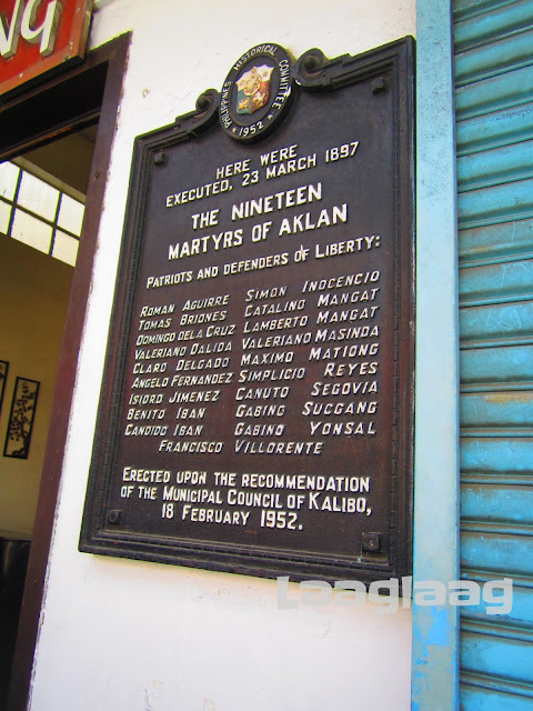 Marker of the 19 Matyrs of Aklan, Kalibo