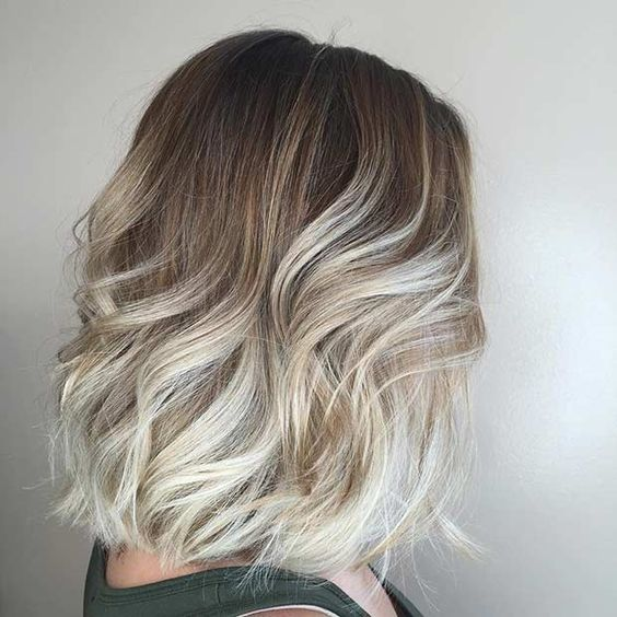 trendy ombre for long bob haircuts the haircut web. Black Bedroom Furniture Sets. Home Design Ideas