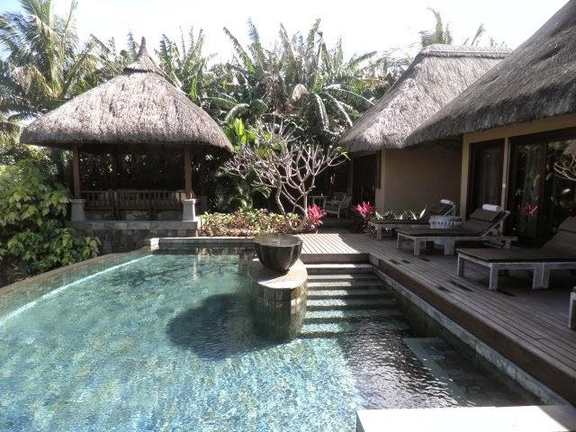 Villa avec piscine privative à l'hôtel Shanti Maurice