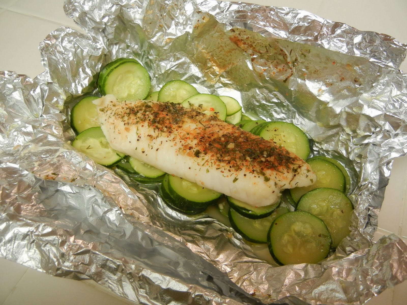 Tilapia+Fish+Foil+Packet+Dinner Weight Loss Recipes A day in my pouch
