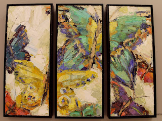 kathryn morris trotter, butterfly paintings, oil paintings, dancing in the rain painting, kathryn trotter fashion and butterfly painitngs