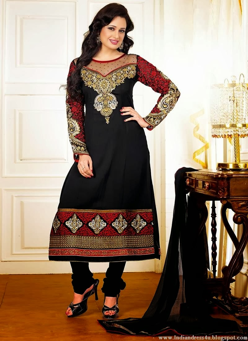 Indian Celebrities Salwar Kameez Latest Fashion 2014 Beautiful Indian Dresses
