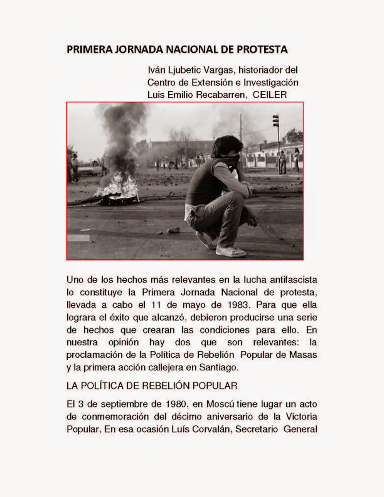 PRIMERA JORNADA NACIONAL DE PROTESTA
