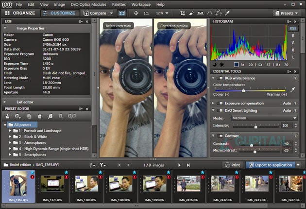 Software Photography DxO Optics Pro 7 Elite Legal License