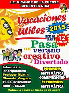 VACACIONES ÚTILES 2015