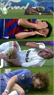 Simulação de lesão no futebol