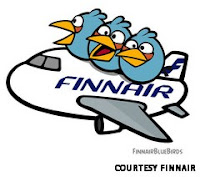 finnair angry birds flight