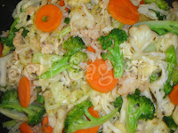 Ground Shrimp Vegetable Stir Fried