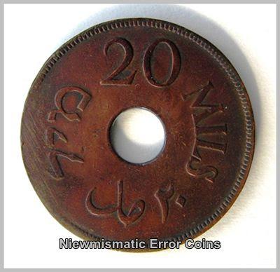 Palestine Coin 1942 20 Mils