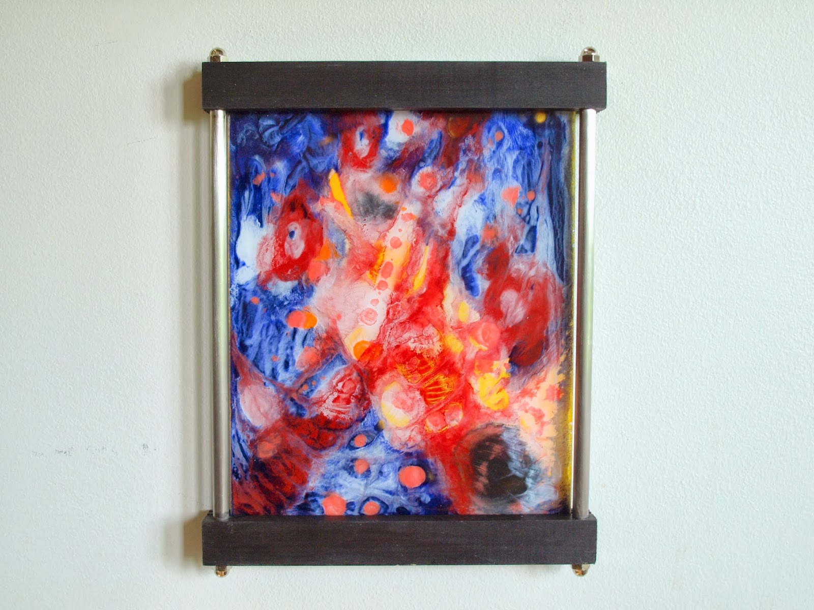 Year of Experimentation in Encaustic on Glass | Arte Arte Dan