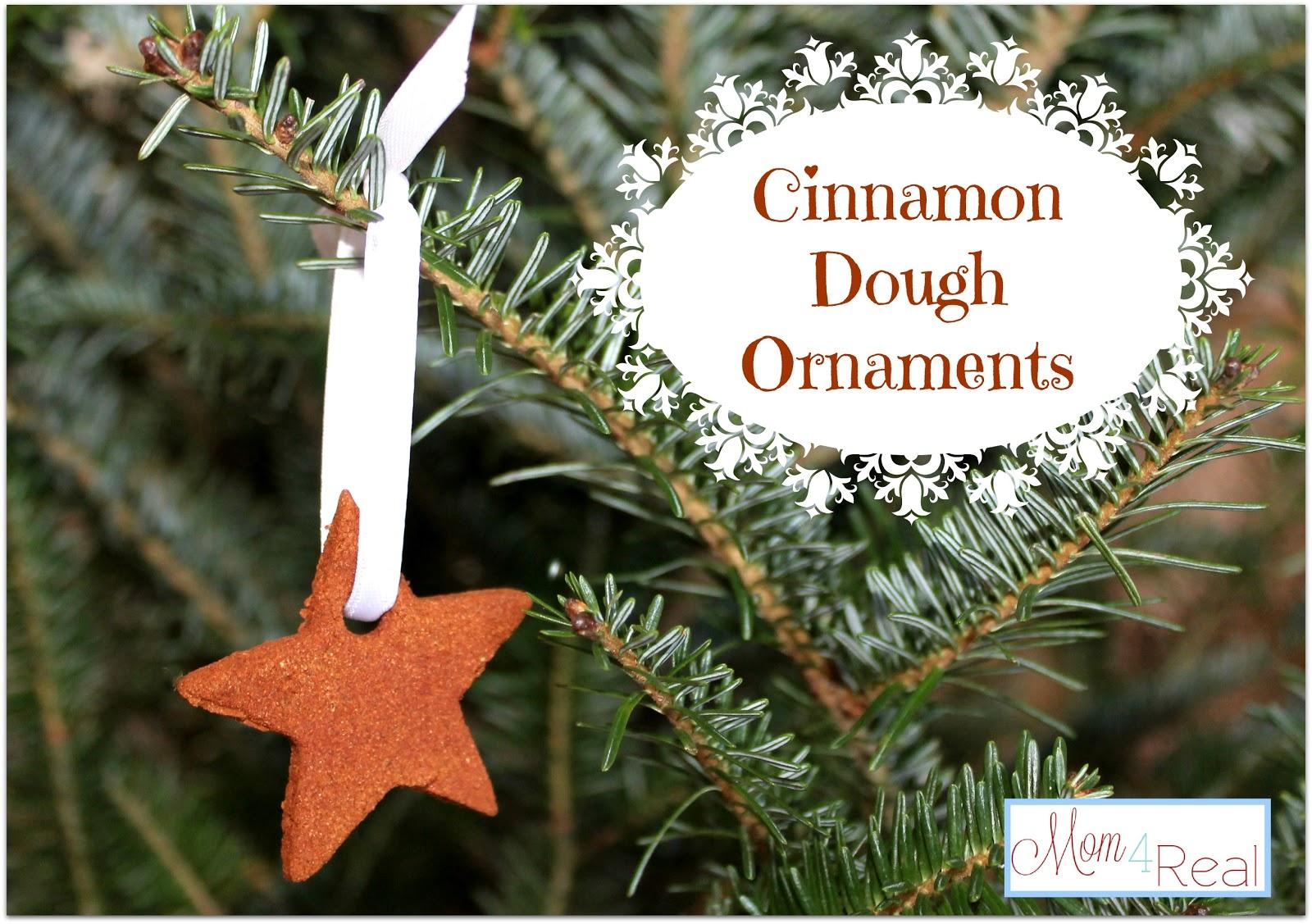 Homemade Christmas Ornaments Dough Cinnamon : Cinnamon applesauce dough ornaments mom real