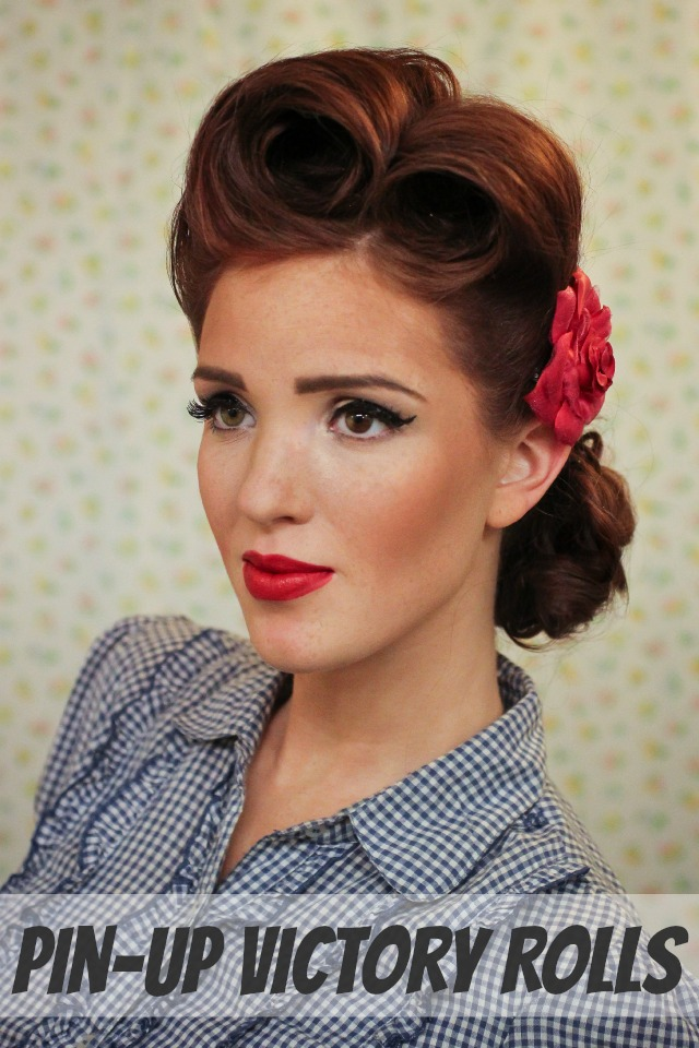 the freckled fox modern pin up week 2 pin up victory rolls. Black Bedroom Furniture Sets. Home Design Ideas