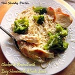 Easy Chicken Alfredo & Broccoli