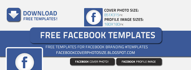 Facebook Cover Photo Free Template Download 4x1.5 incehs