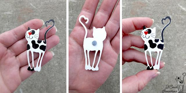 Магнит кот-длинноножка - детали