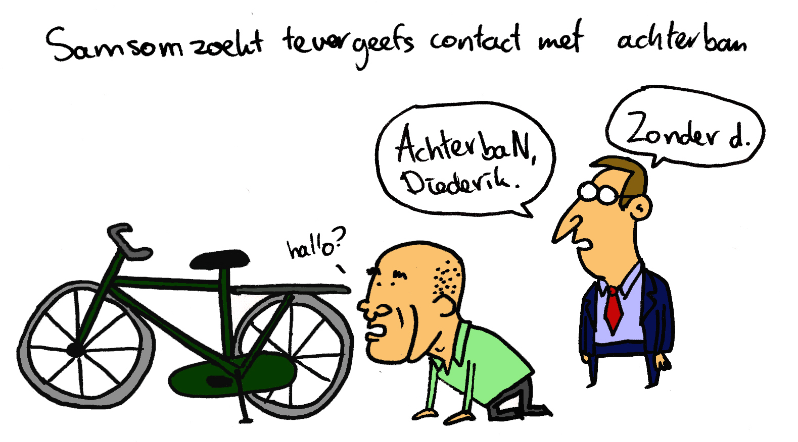 Deze cartoon verscheen ook op ans online