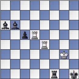 Estudio artístico de ajedrez de Genrikh Kasparian, 4º premio, L'Italia Scacchistica - Feb.1984
