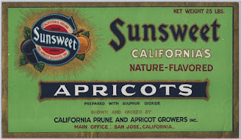 Sunsweet Apricot Label, circa 1930s