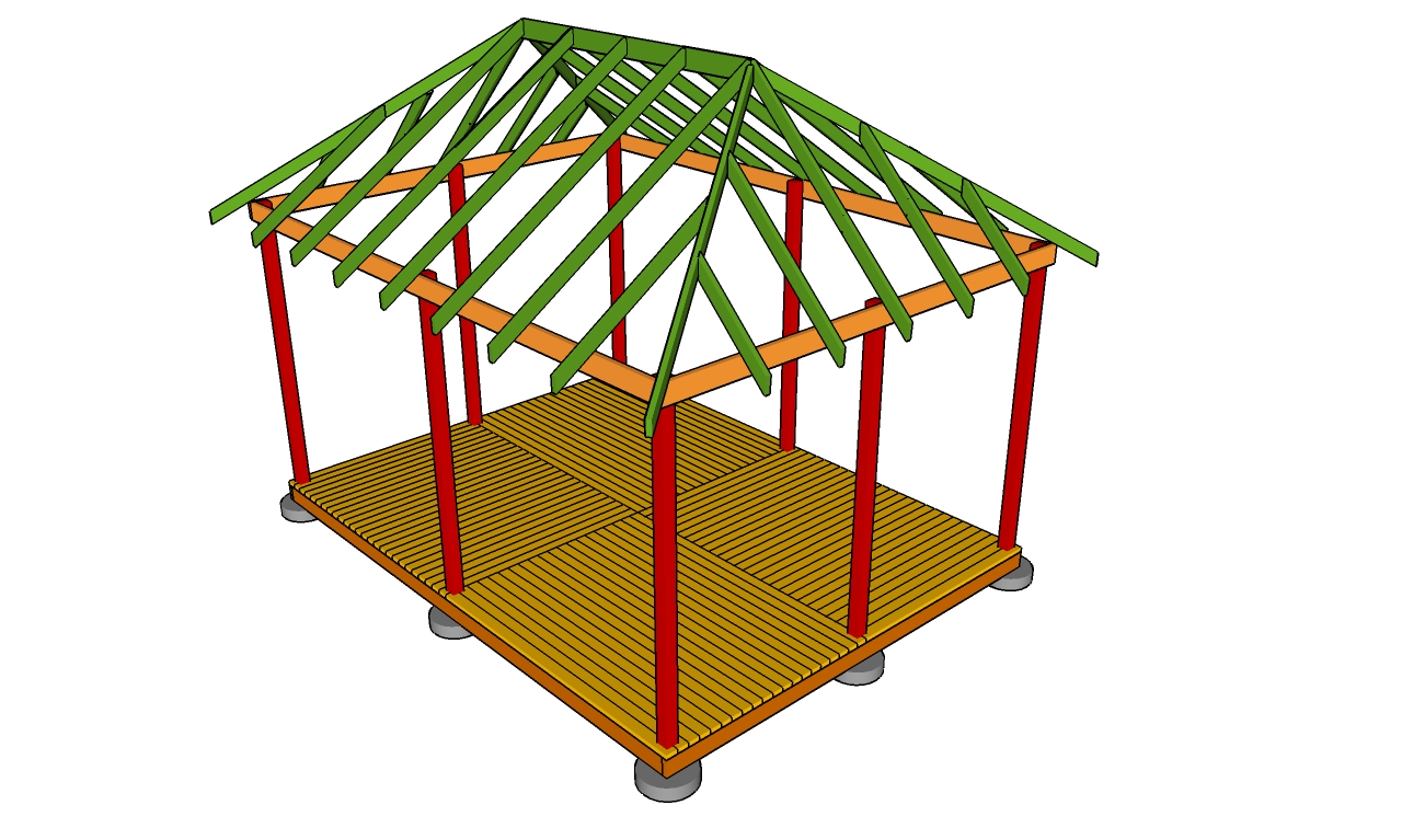 Free gazebo plans how to build a gazebo for Free cupola blueprints