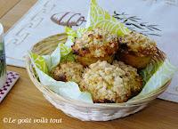 Muffins aux pommes, à l'orange et aux canneberges