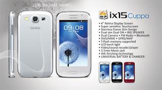 Mixcon iX 15 Cuppa, Ponsel Lokal Dengan Retina Display Seperti Galaxy S3
