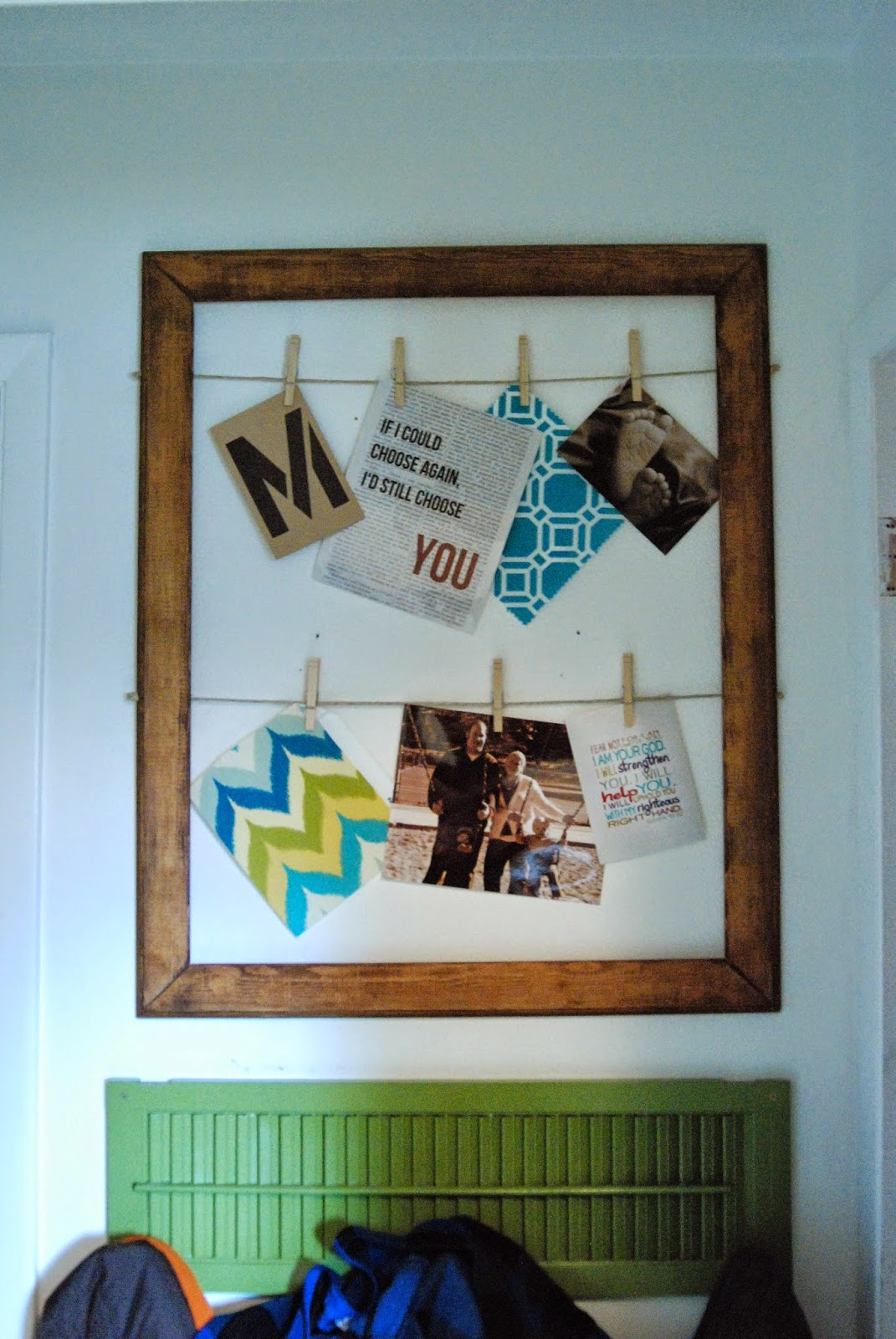 DIY Picture Frame with Hanging Clips