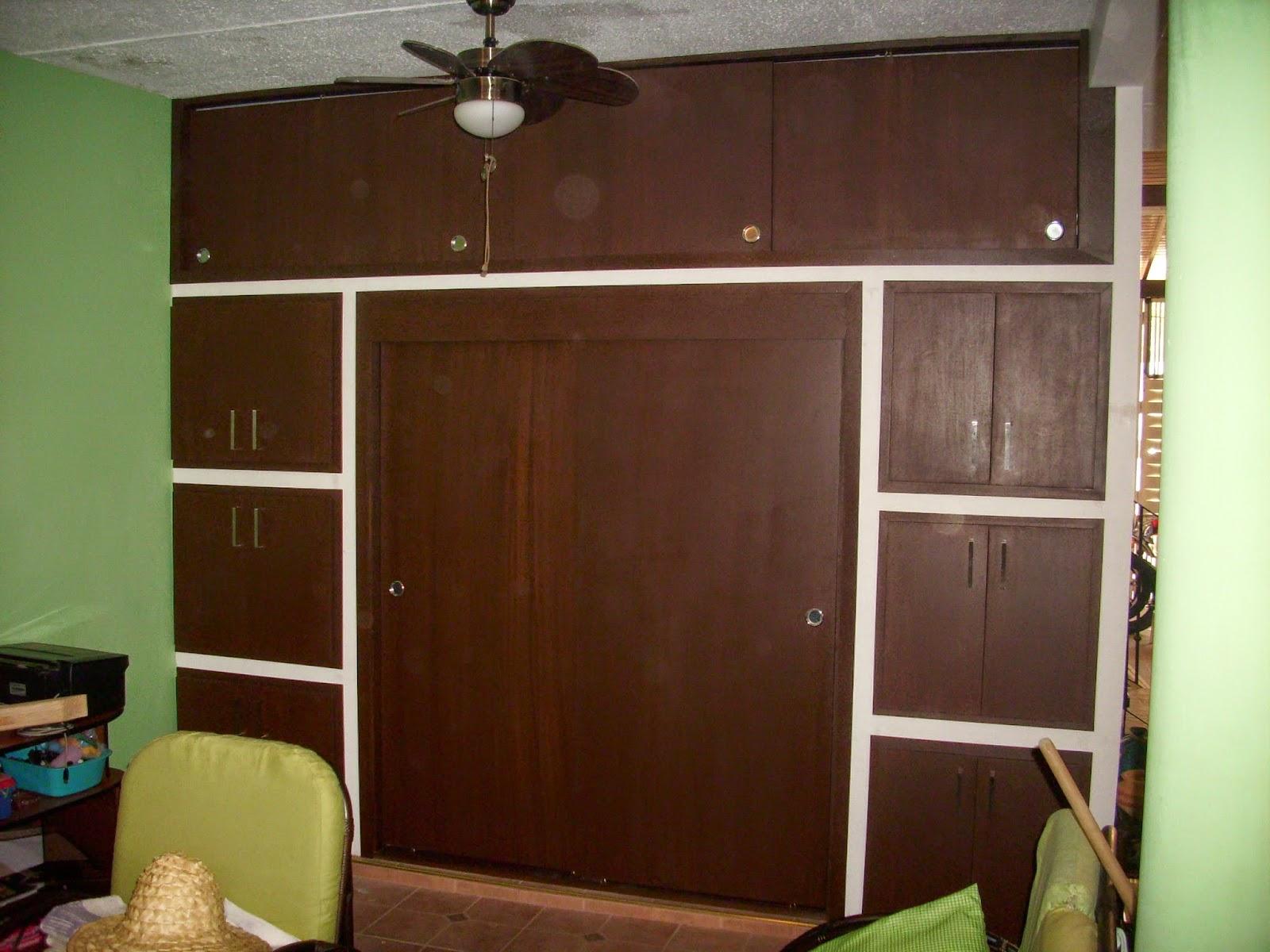 Mis trabajos en madera puertas de cocina y puertas para for Puertas para closet de madera