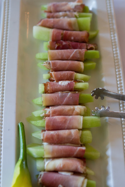 Wedding Brunch Reception - Prosciutto-Wrapped Melon - Photo Courtesy of Brian Samuels