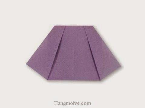 Cách gấp, xếp váy ngắn bằng giấy origami - Video hướng dẫn xếp hình quần áo - How to fold a Skirt