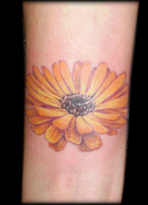 daisy flower tattoo. Daisy Flower Tattoos