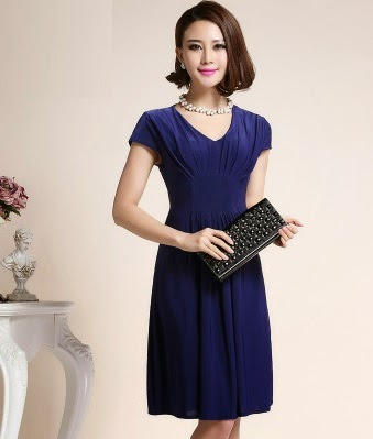 Simple Flare Ice Silk Midi Dress