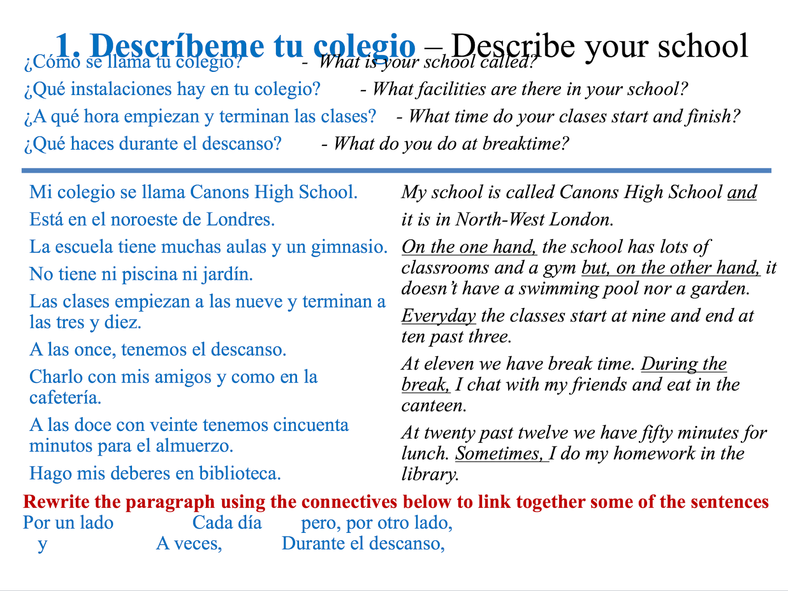translate essay to spanish