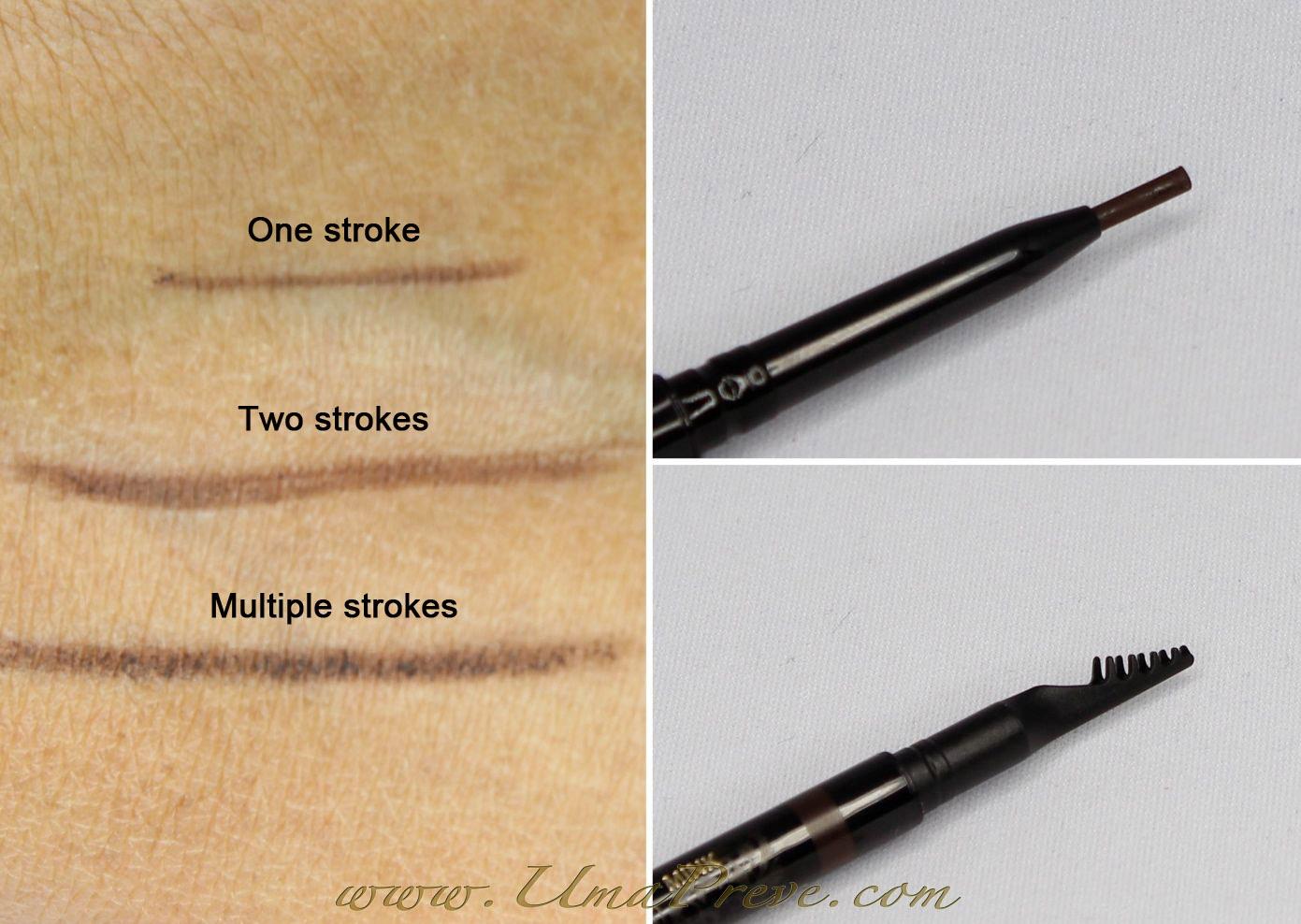 Umamakeuphdtv Senna Sketch A Brow Pencil Swatch And Review