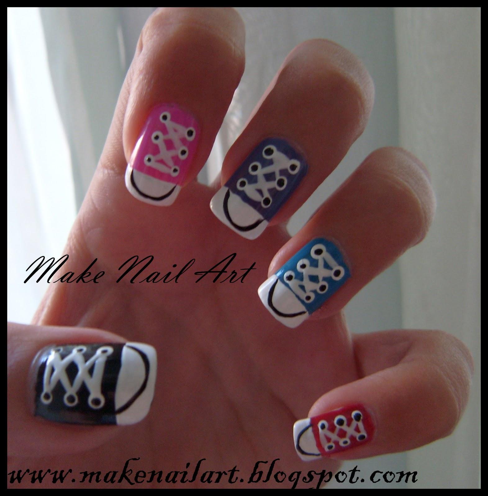 Nail Art Couture Converse Nail Art: Make Nail Art: Converse Nail Art Tutorial
