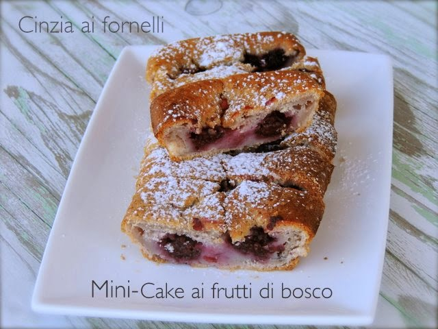 mini cake frutti di bosco