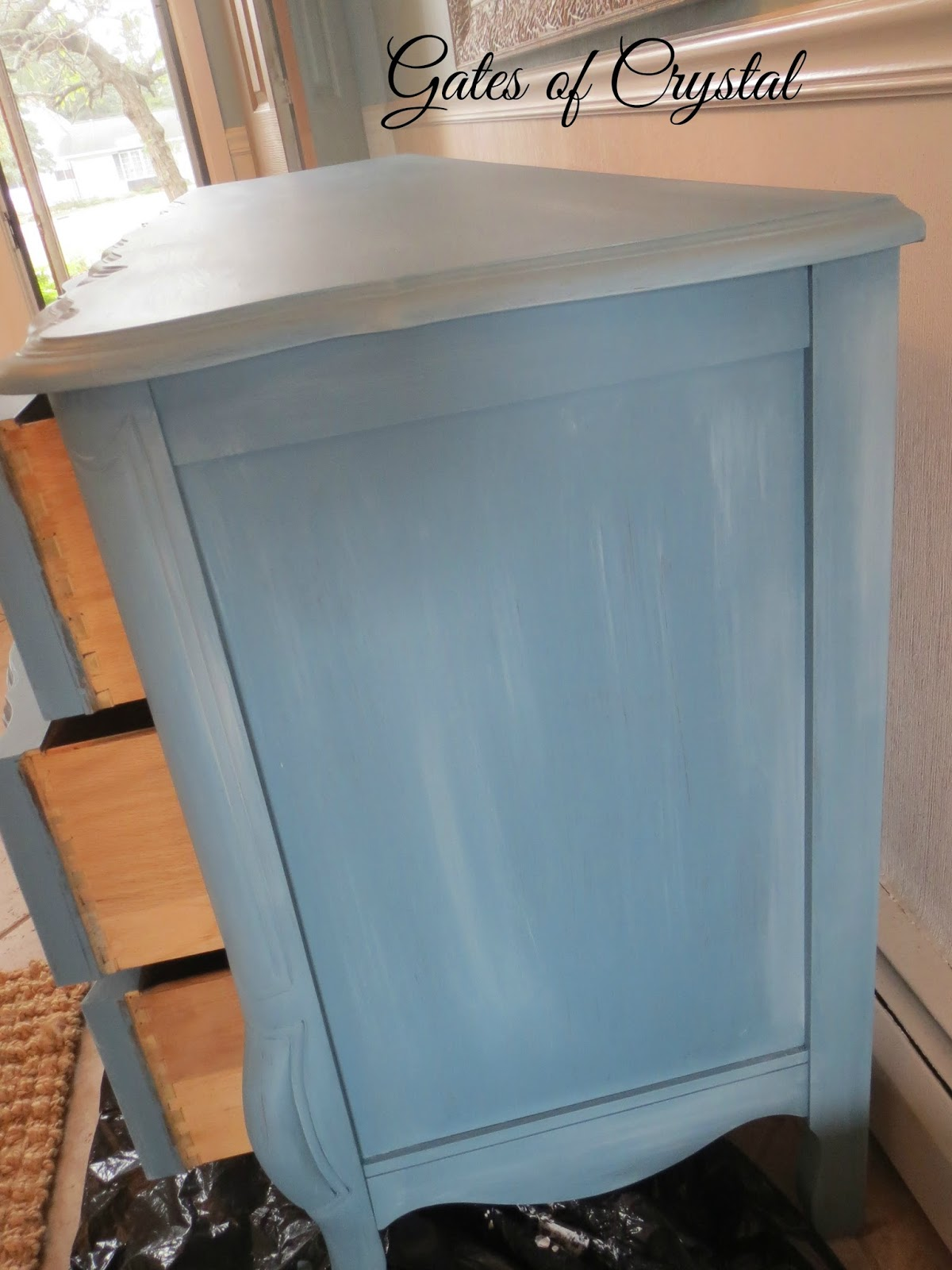 Gates of crystal: painting a french dresser