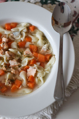 zupa z łososia