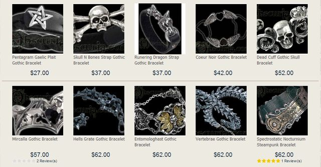 Jewelry from Obscuria.com