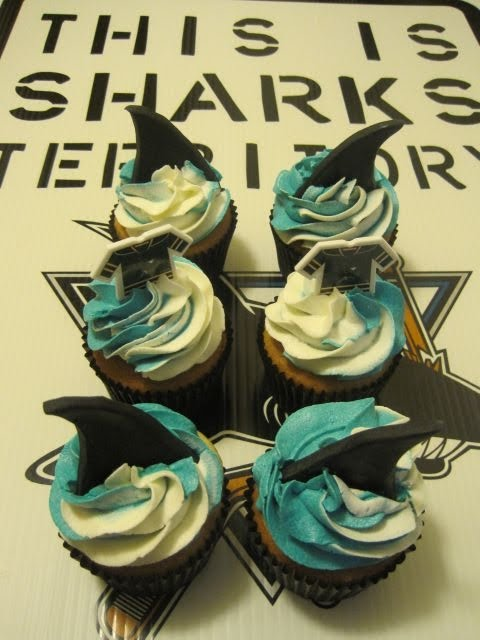 Your Happy Baker San Jose Sharks Cupcakes
