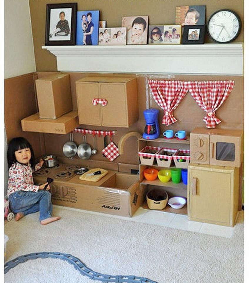 El mundo del reciclaje recicla cart n y haz una cocina de for Cocina de juguete
