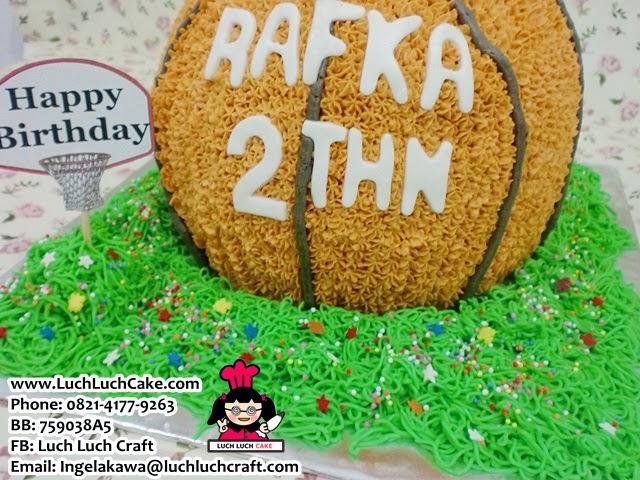 Kue tart ulang tahun 3d basket