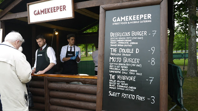 Gamekeeper burgers at Hampton Court Palace Festival